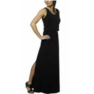 Fever Women's Sleeveless Belted Casual Maxi Dress